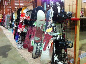 Ski swap snowboards