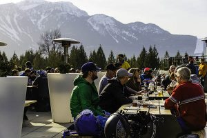 The Rockford has views to drink to. // Photo: Grant Gunderson. Photo courtesy of Revelstoke Mountain Resort.