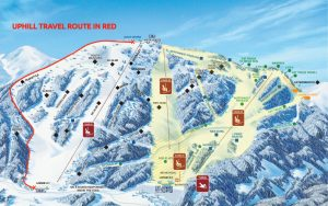 Please follow the uphill rules and stay on the designated route. // Courtesy of Mt. Spokane Ski & Snowboard Park.