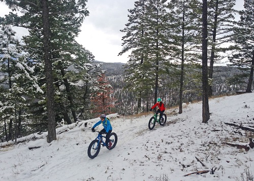 Fat Bike Riding on the Whitefish Trail - © Jessica Downing