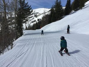 Schweitzer spring skiing. // Photo: Shallan Knowles