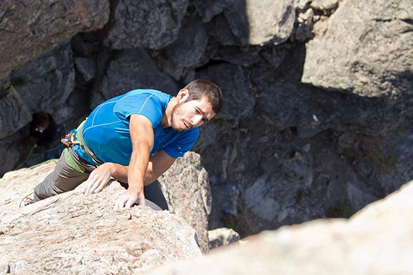 Photo of climber by Jon Jonckers