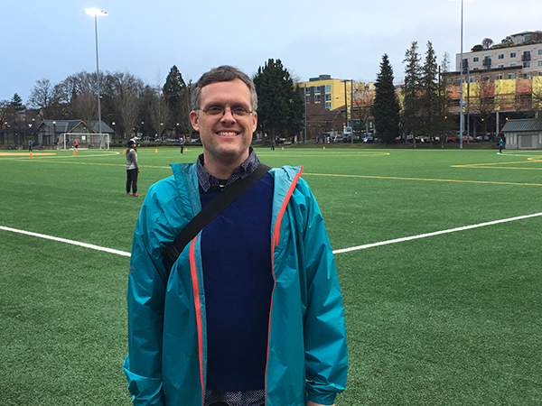 Photo of Jon Snyder at Cal Anderson Park in Seattle.