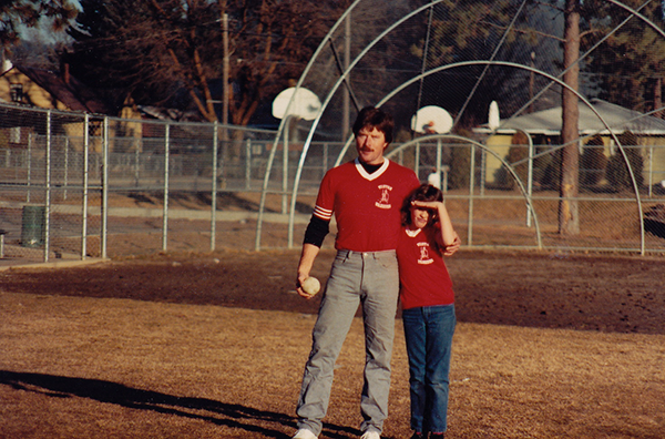 Photo of Shallan Knowles and dad courtesy of Kathy Wilson.