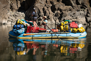 Photo of the gear raft courtesy of ROW Adventures.