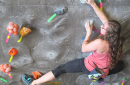 Photo courtesy Eastern Washington University Climbing Wall.