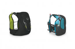 Photo of Osprey hydration vest packs.