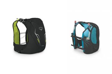 Photo of Osprey hydration vest packs.