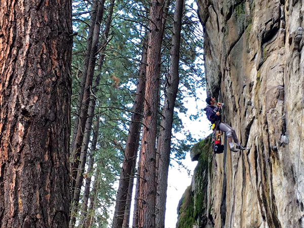 Photo of climber by Summer Hess.
