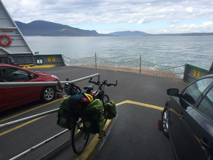 Photo from the ferry of Vancouver Island by Sarah Oscarson.