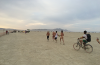 Photo of runners at Burning Man by Janelle McCabe.