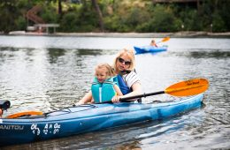 Photo of kayaker by Rachael Becker.