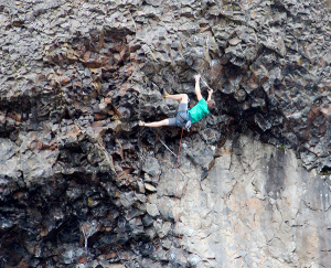 Photo of climber by Tim Connor.