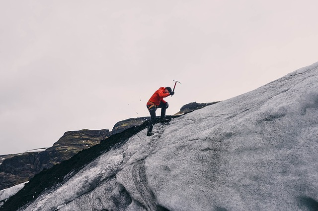 Photo of mountaineer.