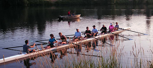 Photo of rowers courtesy of the Spokane River Rowing Association.