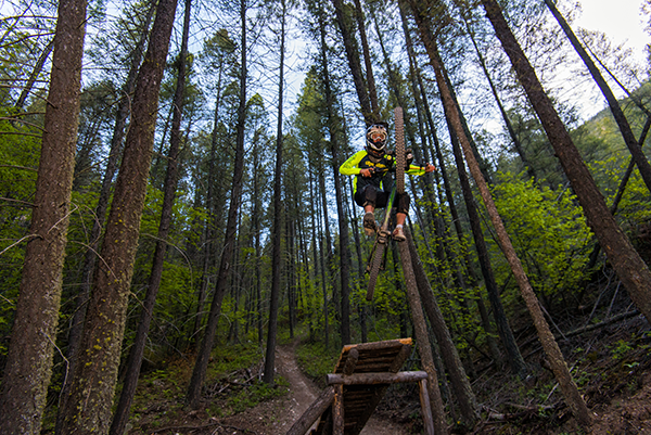 Photo of mountain biker by Aaron Theisen.