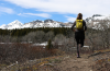 Trail running Firebrand Pass trail to Continental Divide Trail by Katie LeBlanc.