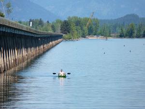 Photo of kayaker by Amy S. McCaffree.