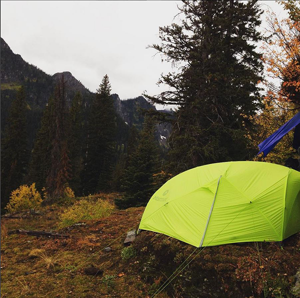 Photo of backcountry campsite by Katie LeBlanc.