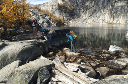 Photo of the Enchantments in autumn by Summer Hess.
