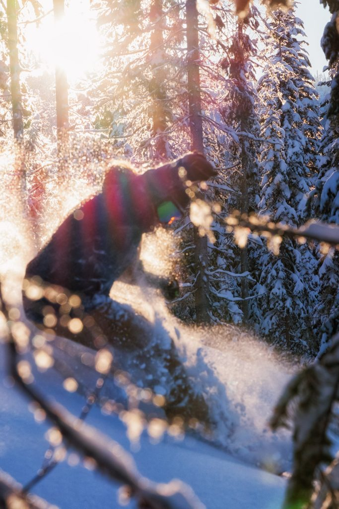"Late-afternoon sun illuminates ""Little Revy"" on the Mt. Morrissey side of Sun Peaks Resort (Photo: Aaron Theisen)"