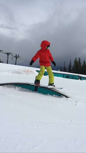 Photo of Asher Coleman at Mt. Spokane progression park by T. Ghezzi.