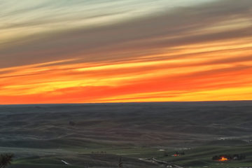 Photo of sunset over the Palouse.
