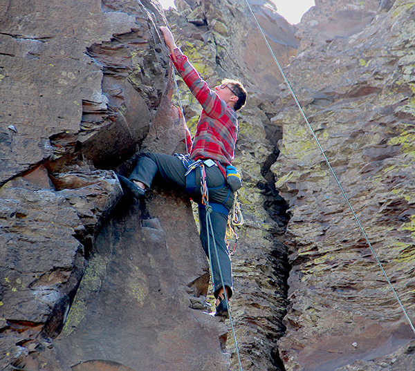Photo of a climber at Vantage.