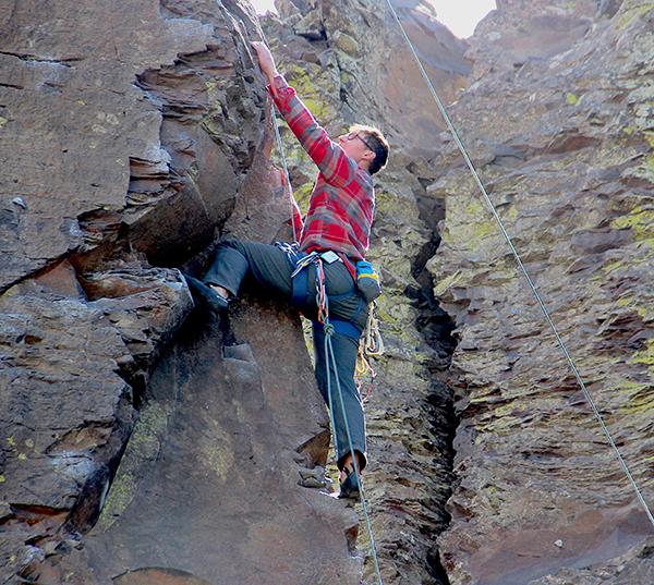 Photo of a climber at Vantage.
