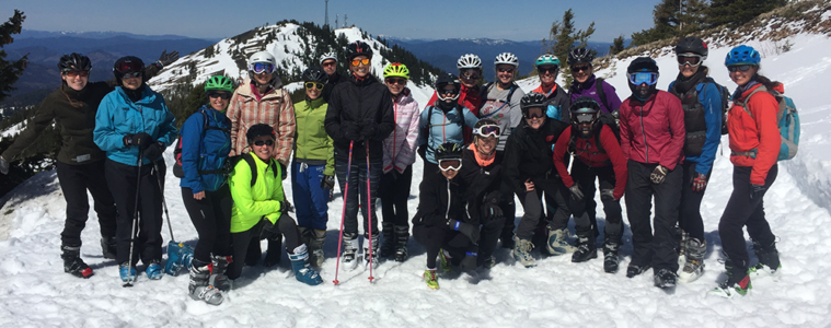 Photo of Leadman participants on Kellogg Peak.