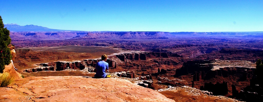Photo of view from top of hike in Canyonland.