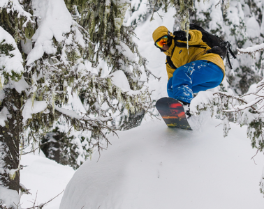 Photo of snowboarder by Aaron Theisen.