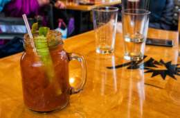 Photo of Bloody Mary on table.