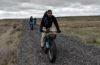 Photo of three bikerpackers on the Columbia Plateau Trail.