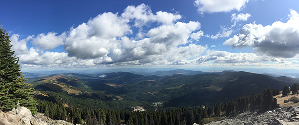 Panoramic view from the top of Mount Spokane.