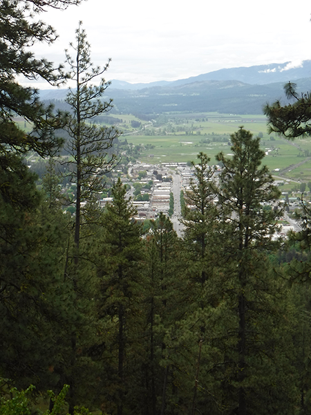 View of Main Street from Colville Mountain