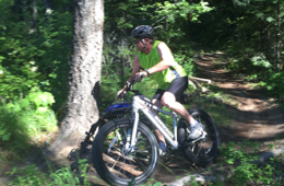 Photo of bike rider on e-bike.