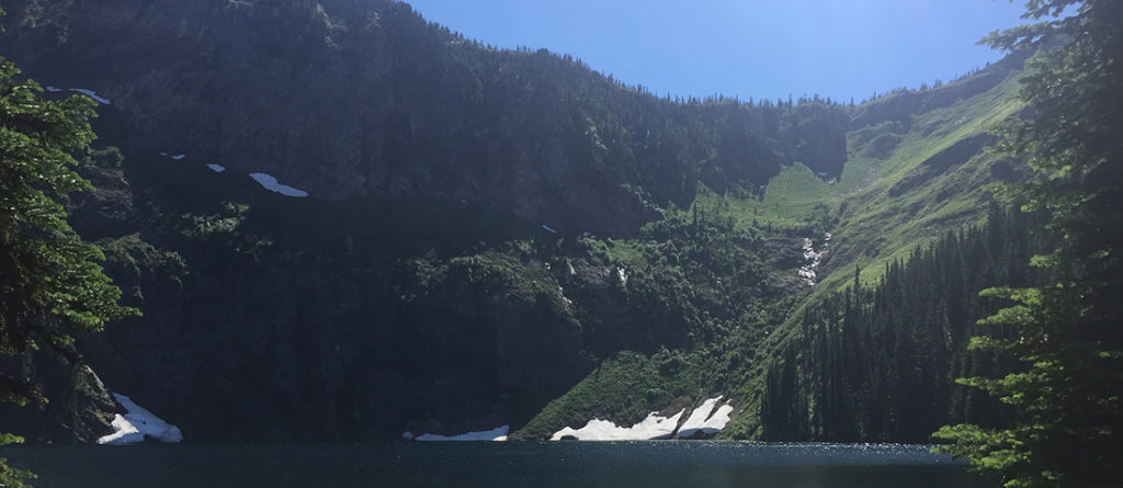 View of Cliff Lake.