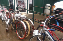 Photo of bikes lined up outside of Capones.