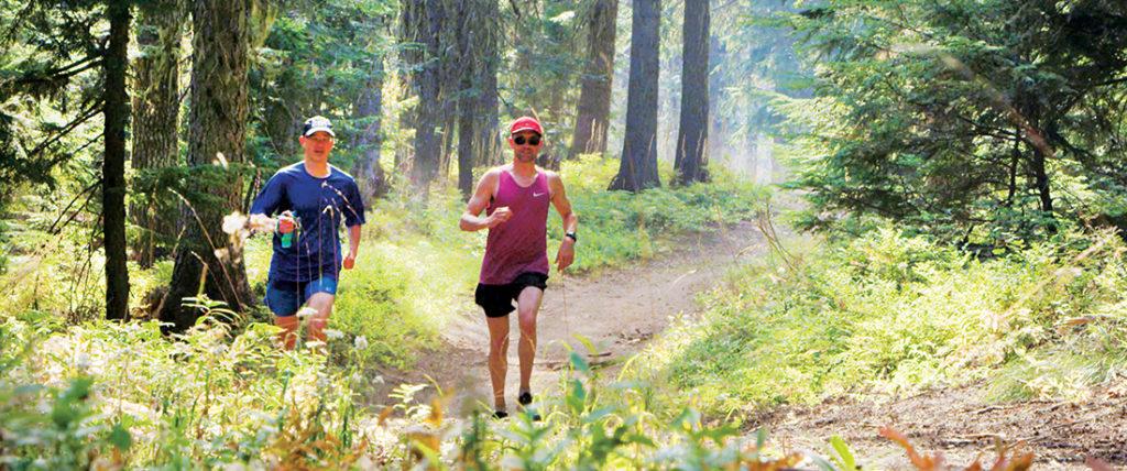 Photo of runners on Mt. Spokane