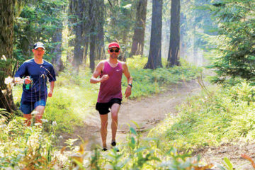 Photo of runners on Mt. Spokane