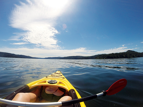 photo of Lake Coeur d'Alene from kayak.