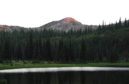 Photo of the Bitterroot Mountains from Mud Lake.