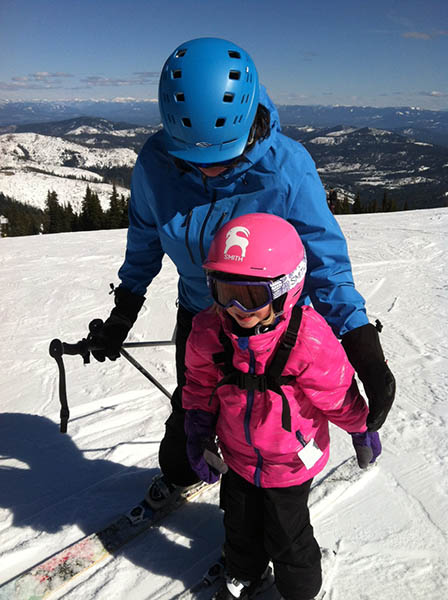 Photo of the author and her daughter at Mount Spokane.