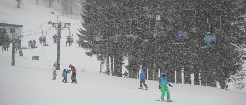 Photo of Mount Spokane's bunny hill.