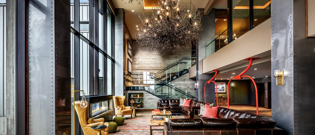 The lobby of The Josie at Red Mountain.