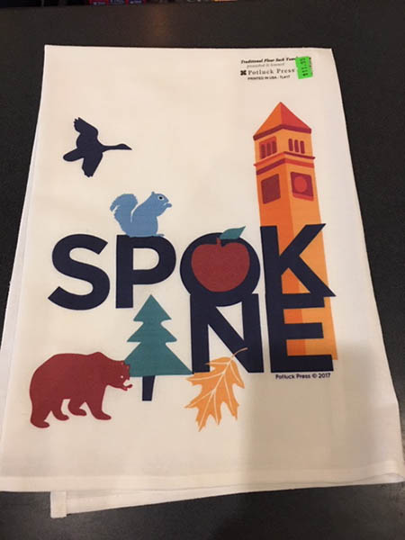 Spokane Tea Towel available from Atticus Coffee & Gifts
