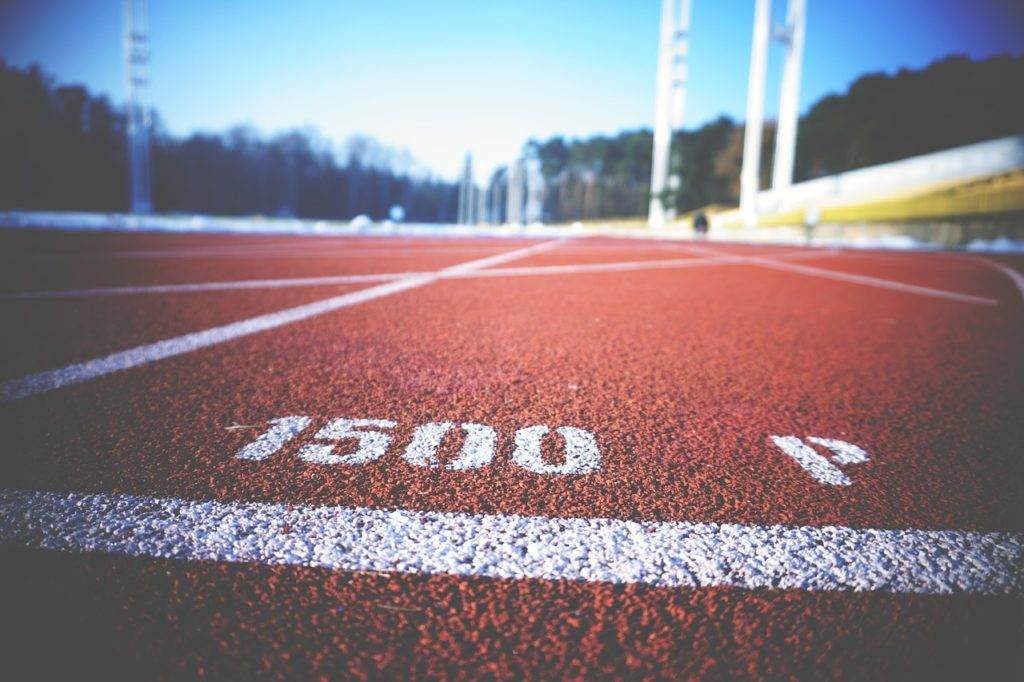 Close up photo of a track.