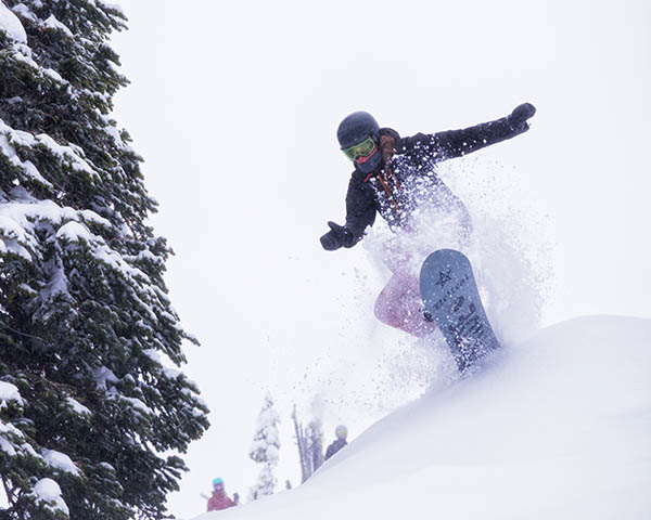 Photo of snowboarder at Red Mountain.