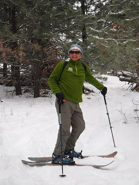 Portrait of Jeff Lambert on cross country skis.